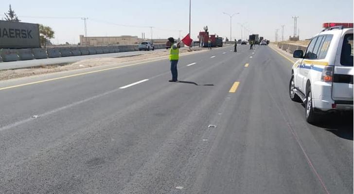 تحويلات مرورية جديدة على الطريق الصحراوي