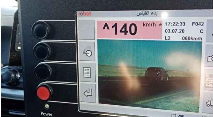 ضبط مركبة تسير بسرعة 140 على طريق الصحراوي