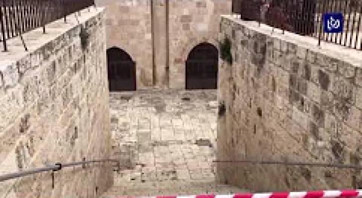 الأردن يرفض قرار الاحتلال إغلاق مبنى باب الرحمة