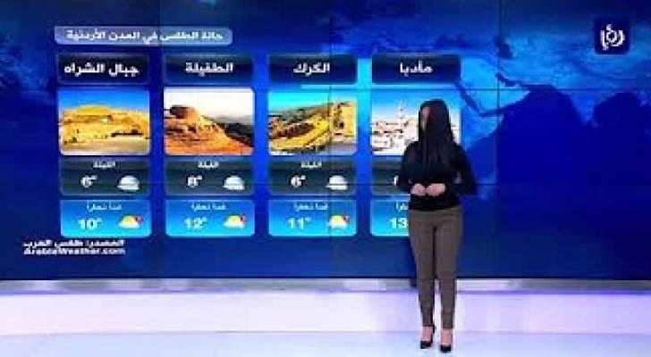النشرة الجوية الأردنية من رؤيا 7-12-2019
