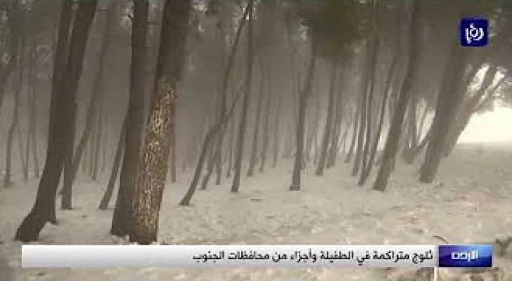 شاهد.. أمطار وثلوج في معظم محافظات الأردن